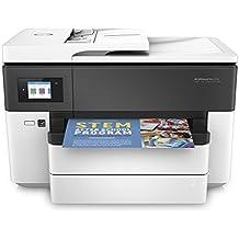 HP Officejet Pro 7730–Impresora multifunción de formato ancho (pantalla LCD táctil en color de 6.75 cm, memoria 512 MB, AAD de 35 hojas, impresión a doble cara, fax, Apple AirPrint) color blanco