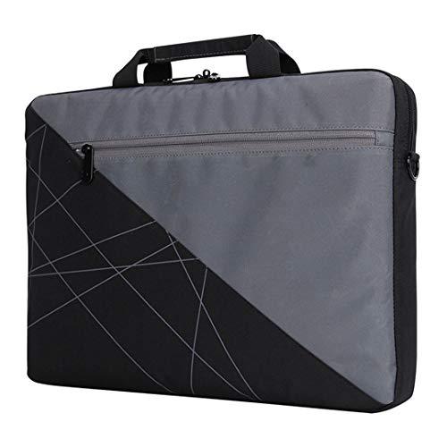 Frauen Männer Aktentasche Patchwork Canvas Laptop Umhängetaschen Business Tablet Handtaschen Umhängetasche Grey