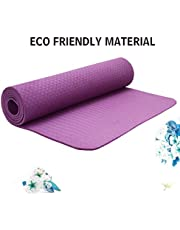 Strauss TPE EcoFriendly Yoga Mat 6mm Purple