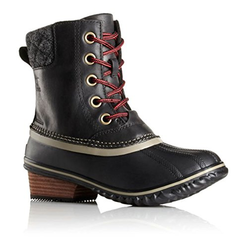 Sorel Slimpack II Lace Cuir Botte de Neige Black Kettle