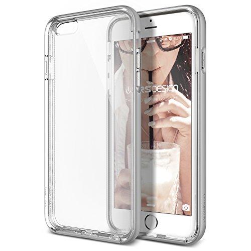 VRS Design® Apple iPhone 6 Plus/6s Plus Crystal Hülle mit [ Kameraschutz ] 2 teilige PC / TPU Silikon Schutzhülle Light Silver | Transparent Ultra Slim Cover | Schale dünn | Handy Zubehör Back-Case Bumper