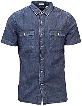 Levi's Uomo Camicia Manica Corta Jeans Slim Fit 658123 XL Denim