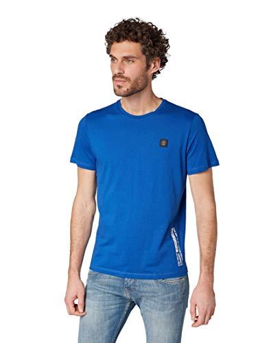 Arctic Blue T-shirt (TOM TAILOR für Männer T-Shirts/Tops Schlichtes T-Shirt Arctic Sea Blue, XXL)