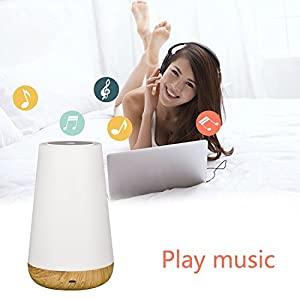 YaFex Touch control Table Lamp with Bluetooth Speaker - USB Rechargeable Dimmable RGB Color Changing Table LED Lamp Smart Touch Control Night Light with Bluetooth Speaker [Upgraded Version] from YaFex