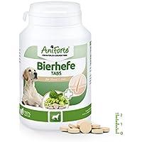 AniForte Bierhefe Tabs 250 Stück - Naturprodukt für Hunde, Glänzendes, kräftiges Fell, Vitale Haut, Allgemeinen Stärkung & Förderung der Kondition, Appetit-anregend, wichtige Vitamine & Mineralstoffe