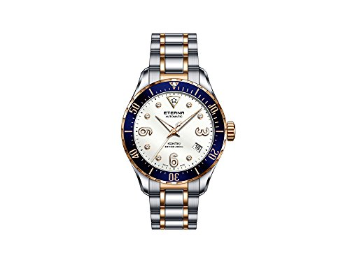 Eterna Lady KonTiki Diver Automatic Watch, SW 200, PVD, Diamonds, Special Ed.