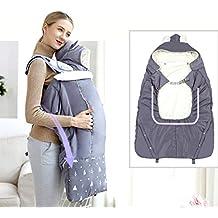 b16de8b31959 Porte Bébé Couverture, Nouveau Manteau de Portage avec Chapeau Chaud Doux  pour Maman Bébé,