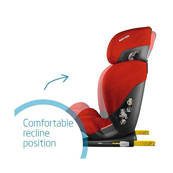 Maxi-Cosi RodiFix AirProtect Child Car Seat, ISOFIX Booster Seat, Extra Protection, 3.5-12 Years, 15-36 kg, Nomad Red Maxi-Cosi Outstanding side impact protection - with the combination of patented air protect technology Patented air protect technology in headrest - the risk of head and neck injuries are reduced up to 20% Quick and easy to buckle your child up with the 'easy-glide' system and clear belt routing 4