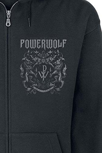 Powerwolf Crest - Metal Is Religion Kapuzenjacke schwarz Schwarz