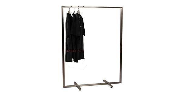 metalarredo Stender Semplice Fisso APPENDERIA Cromato da 100 cm Gondola Boutique Abbigliamento Design Moderno
