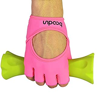 Anser 7150282 Woman Lycra Half Finger Girl Short Fingerless Gloves for INDOOR Yoga Gym Fitness Body Building Training (ML)