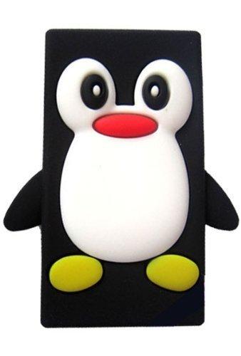 Tinkerbell Trinkets® Schwarz Apple iPod NANO 7 7th Generation Pinguin niedlichen Tier Silikonhülle Shell Beschützer Handy Smartphone Zubehör