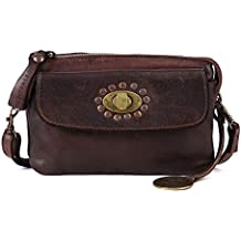 KOMPANERO Dark Brown Ladies Sling Bag (Colette)