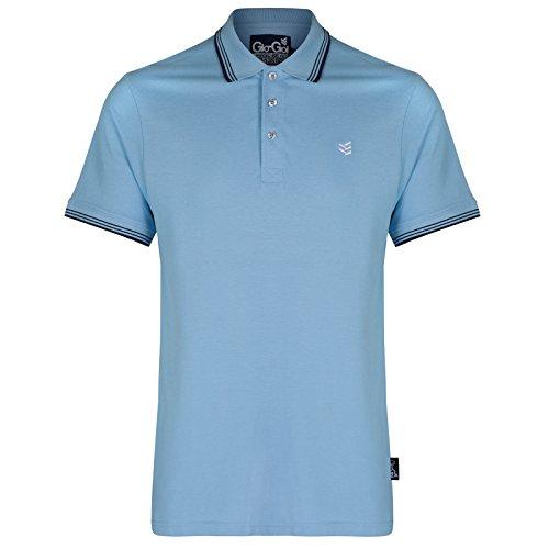 Gio-Goi Herren Poloshirt, Einfarbig Gr. Large, blau