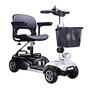 DJJY Mobility Scooter for Adults,Battery Powered Mobility Scooter Zero Turn Maneuverability Automatic Folding,for Adult And Seniors
