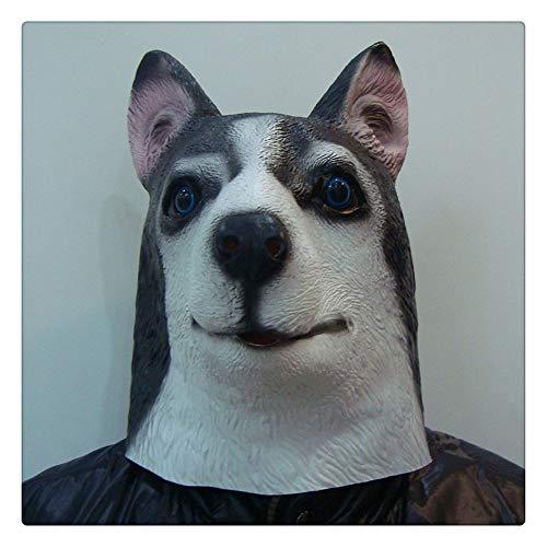 Z-one 1 Party Neuheit Halloween Kostüm Premier League Underdog Party Latex Hund Husky Wolf Kopf Maske (Deutscher Schäferhund)