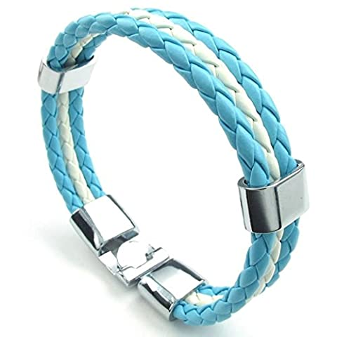 Gnzoe Jewelry, Bracelets Mens Cuff Bracelets Mens Alloy Rope Bracelet White Length 8.5IN