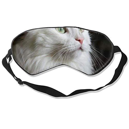 Augenmaske White Cat Schlafmaske verstellbar atmungsaktiv Schlafmaske Augenmaske