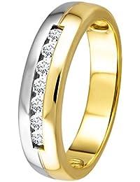 Diamond Line Diamant-Ring Damen 585 Gold mit 7 Brillianten 0.20 ct. Lupenrein