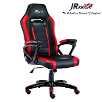 JR Knight Racing Chair X, Faux Leather PC Desk Chair Gaming Chair Designed for Young Generation (Black&Red)