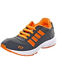 Azotic Men's Grey Synthetic Leather Lace-Up Sport Shoes