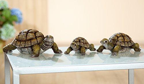1 x Schildkröte braun Länge 12 cm, Tierfigur, Turtle, Figur, Deko