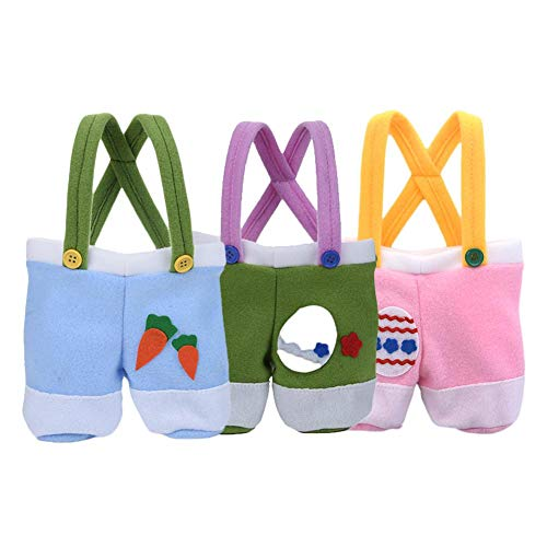 enktüte Wiederverwendbare Ostern Präsentiert Korb Osterhase Korb Personalisierte Kaninchen Hose Form Tasche Geschenke Eier Candy Tote Bag Für Kinder ()