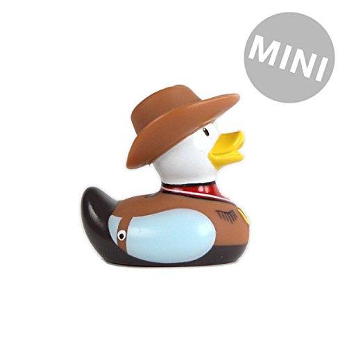 Bud Duck ~ Mini Coleccionable Deluxe Pato De Goma ~ COWBOY