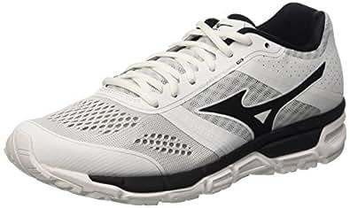 Mizuno Synchro Mx Scarpe da corsa, Uomo, Bianco (White/Black/Silver), 39