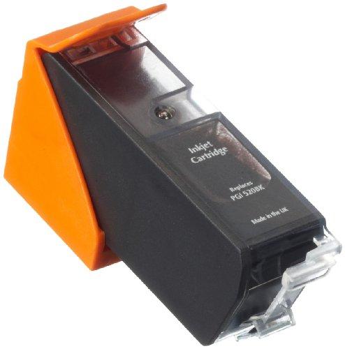 Preisvergleich Produktbild AgfaPhoto Tintenpatrone schwarz kompatibel zu PGI-520BK geeignet für Pixma MP980/540/620/630