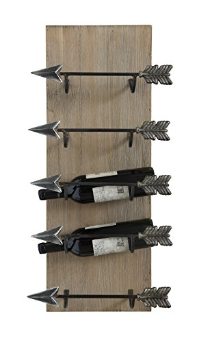 Creative beeinflußt Holz und Metall Wand Weinregal mit Pfeil Form Halter, Bunte 76,2cm Hohe x...