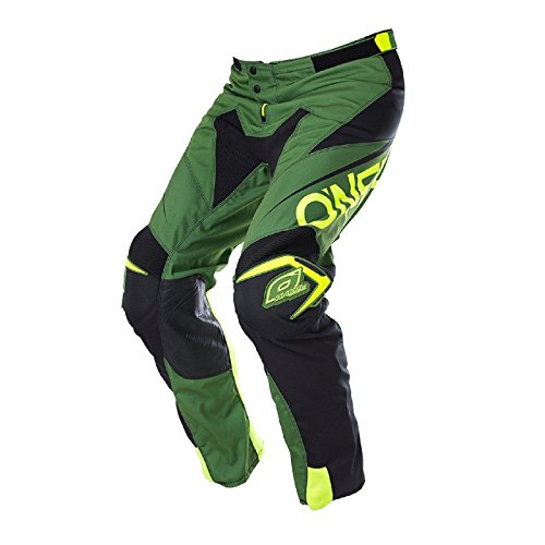 O'Neal Mayhem Lite Hose Blocker Grün Schwarz MX Motocross Enduro Offroad Quad Pants, 0130A-4, Größe 38/54