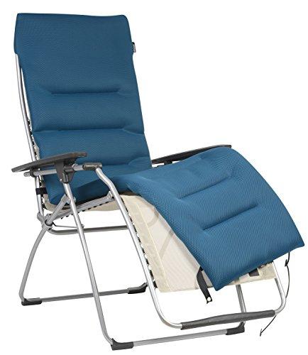 Lafuma coprimaterasso air comfort imbottito per sedia a sdraio relax, coral blue (blu), lfm2604-6547