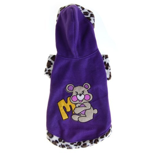 Generic Pet Dog Apparel Clothes Hoodie Coat Size 6 - Purple