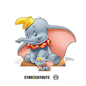 Star Cutouts Ltd SC4005 Dumbo Circus - Figura decorativa de elefante de Disney (74 x 94 cm), multicolor