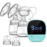 Electric Breast Pump, MOSFiATA Dual Suction Rechargeable Nursing Breastfeeding Pump with Touch Screen