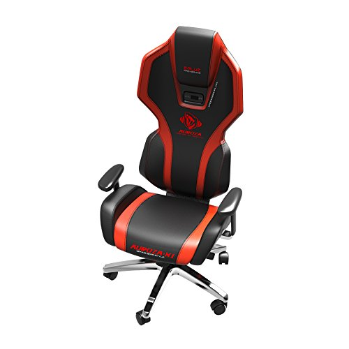 Get E-Blue Auroza Gaming Lighting Chair Black and Red Ergonomic Computer eSports Desk Executive LED Lights EEC301R