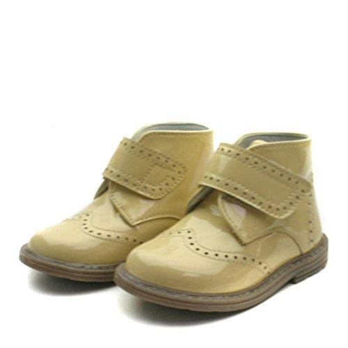 SB163 Studio BIMBI Brogue Bootee w/velcro strap High Back for Boys/Girls >     > bottes hautes Brogue avec sangle velcro pour Garçons / Filles Beige (beige)