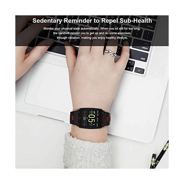 SmartWatch, Padgene Reloj Inteligente IP67 Impermeable Bluetooth Pulsera Actividad Deportiva Múltiples Lenguajes con Pulsómetro Monitor de Sueño, Música, Notificación de Llamada Mensaje para Android e iOS 9