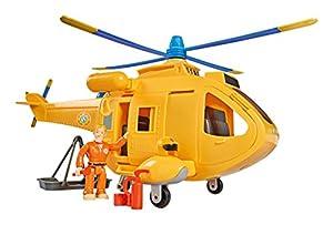 Smoby 109251002002-Sam el Bombero-Helicóptero Wallaby 2-+ 1Figura-Funciones Sonoros y Luminosas
