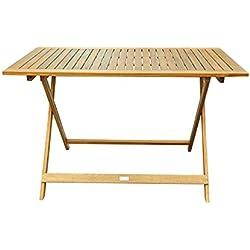SAM Gartentisch 115x70 cm Holstebro, Akazien-Holz Massiv, Tisch für Garten oder Terrasse, FSC® 100% Zertifiziert