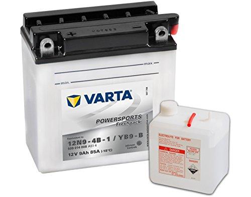 BATTERIA MOTO VARTA POWERSPORTS FRESHPACK 12V 9AH 85A 509014008 12N9-4B-1 / YB9-B
