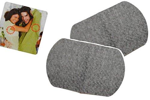 alles-meine.de GmbH 2er Set: Schweißblätter aus Baumwolle - in Schwarz zum Einkleben - Armblätter Schweißblatt (Saugfähige Einweg-unterwäsche)
