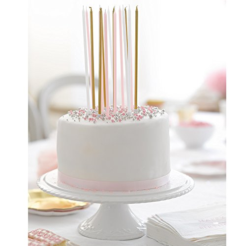 Talking Tables We Heart Pink Long Thin Cake Candles For A Birthday And Party Cel