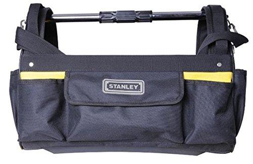 Stanley Werkzeugtrage (47 x 34,3 x 22,9 cm, offene Box aus 600 Denier Nylon mit verstellbarem Schultergurt, ergonomischer Tragebügel, Trage mit Innen- und Außentaschen) STST1-70712