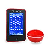 UICICI Wireless Fish Finder Transducer Anti-UV LCD Display Depth Finders with built in
