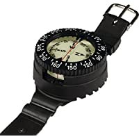 Mares Instrument Mission 1C - Wrist Compass - Brújula de muñeca, Color Negro, Norte
