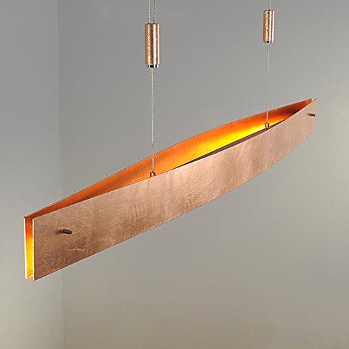 """LED Pendelleuchte """"Malu"""" dimmbar (Design, Modern) in Kupfer aus Aluminium u.a. für Wohnzimmer & Esszimmer (6 flammig, A+) von Lampenwelt   LED Hängelampe, LED Lampe, Deckenleuchte, Deckenlampe, Hängeleuchte"""