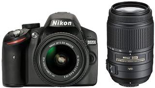 Nikon D3200 SLR-Digitalkamera (24 Megapixel, 7,4 cm (2,9 Zoll) Display, Live View, Full-HD) Double Zoom Kit inkl. AF-S DX 18-55 VR II und 55-300 VR Objektiv schwarz (B00I3M5Y1C) | Amazon price tracker / tracking, Amazon price history charts, Amazon price watches, Amazon price drop alerts