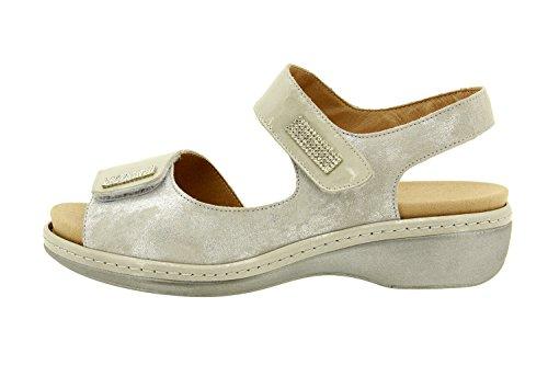 Scarpe donna comfort pelle Piesanto 8818 sandali soletta estraibile comfort larghezza speciale